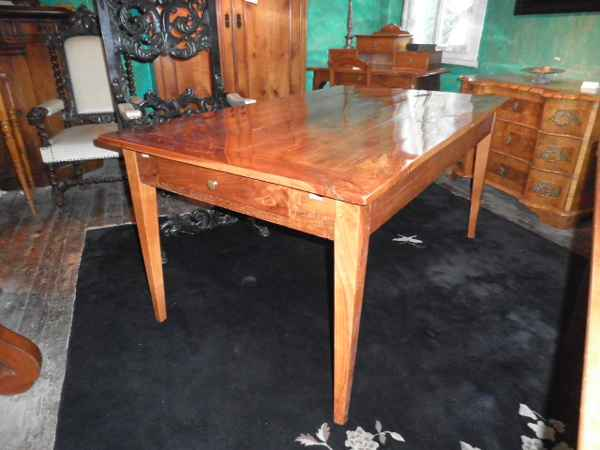 Biedermeier Tisch mit Ansteckplatten