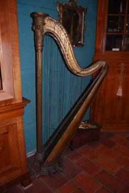 Biedermeier Harfe