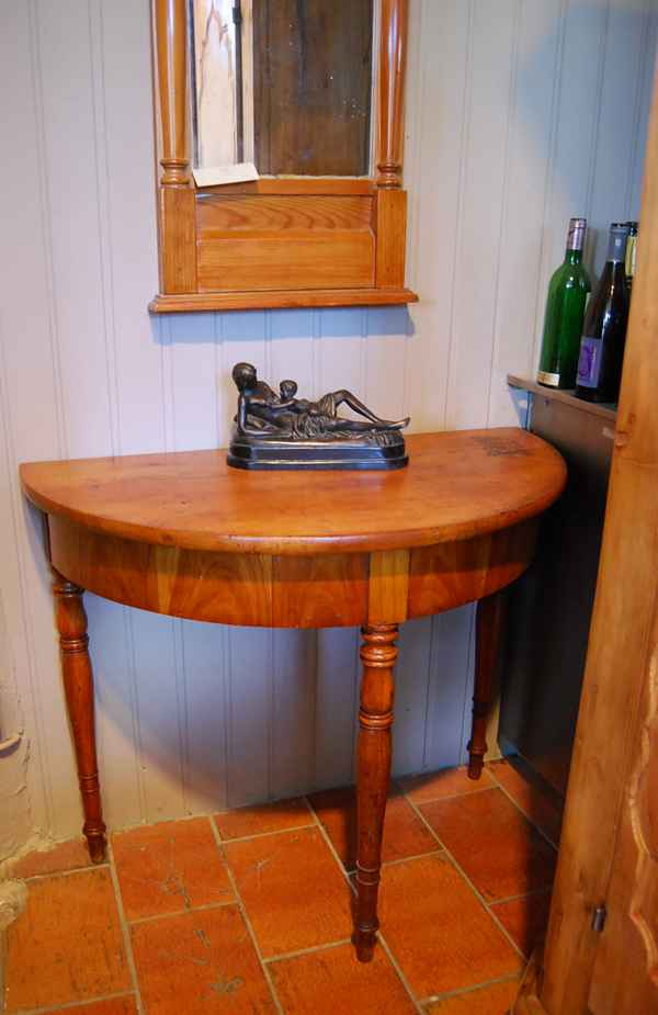 Biedermeier Demi Lune Tisch