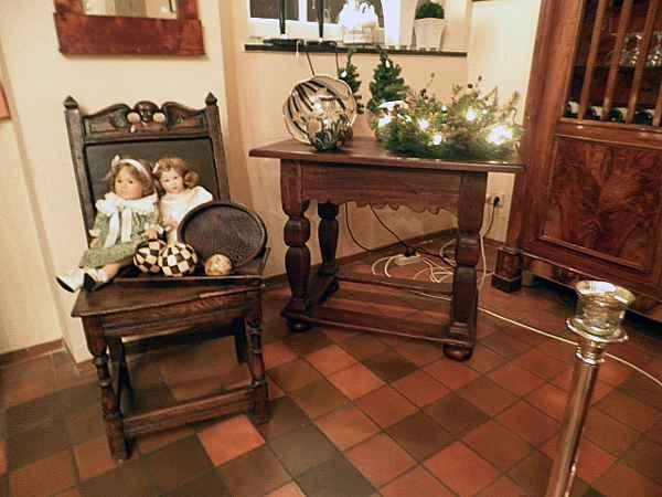 Barock Stuhl und Tisch