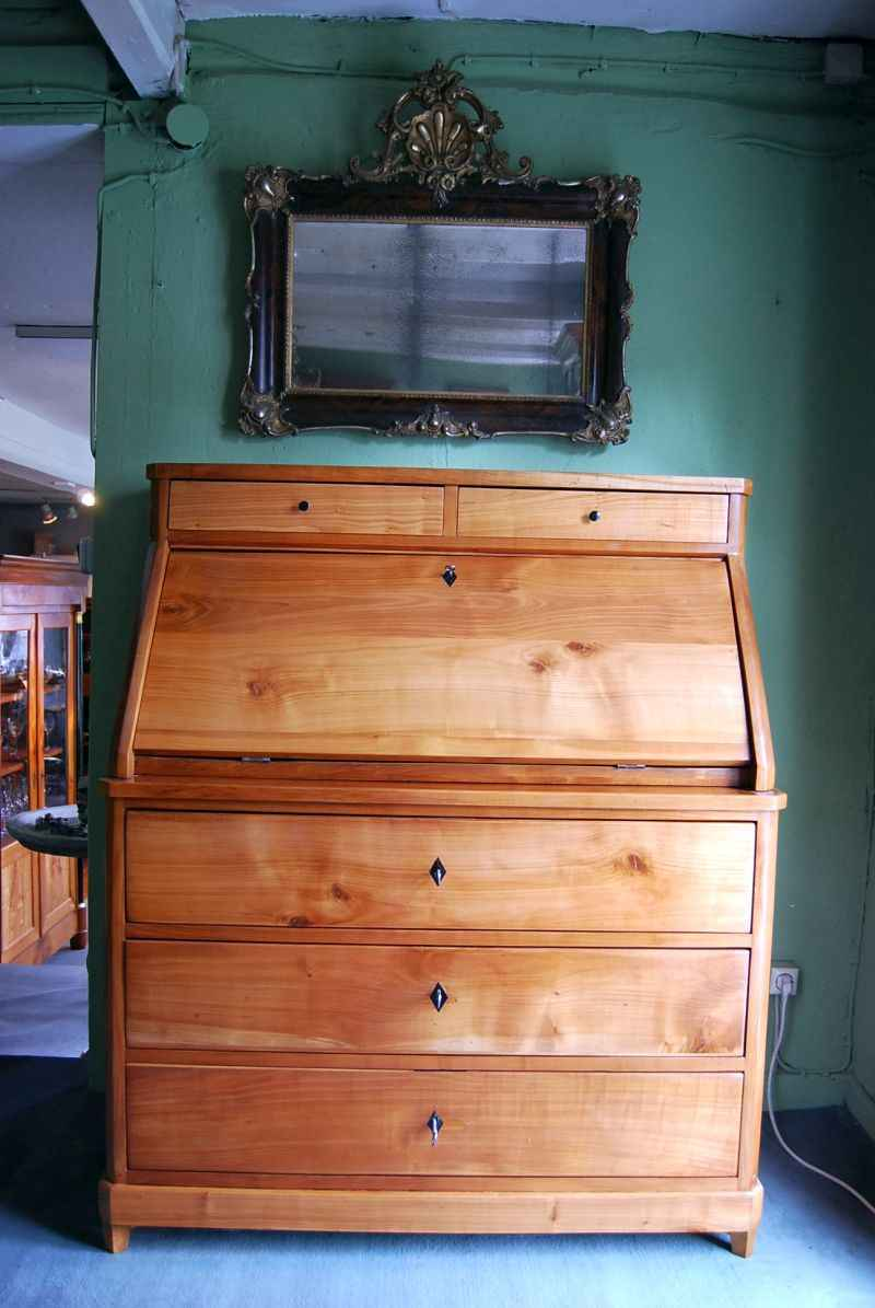 biedermeier sekret r aus kirschbaum. Black Bedroom Furniture Sets. Home Design Ideas