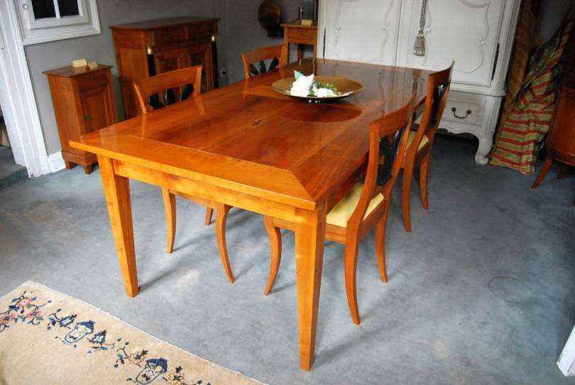 esstisch kirschbaum ca 1820 brosshauser m hle. Black Bedroom Furniture Sets. Home Design Ideas
