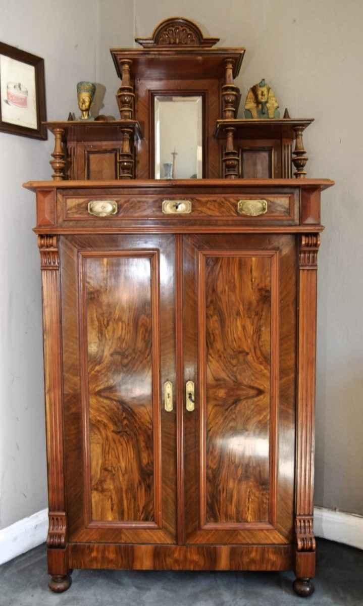 vertiko mit aufsatz nussbaumholz ca 1880 antiquit ten bro hauser m hle solingen. Black Bedroom Furniture Sets. Home Design Ideas
