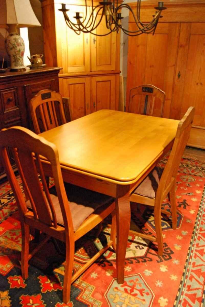 ausziehtisch mit 4 st hlen buche ca 1820 antiquit ten bro hauser m hle solingen. Black Bedroom Furniture Sets. Home Design Ideas