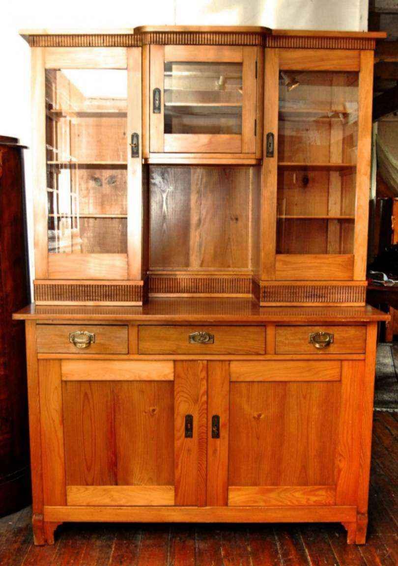 Küchenschrank, Kiefer, ca. 1910