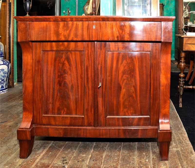 Anrichte mahagoni ca 1825 antiquit ten bro hauser for Anrichte mahagoni