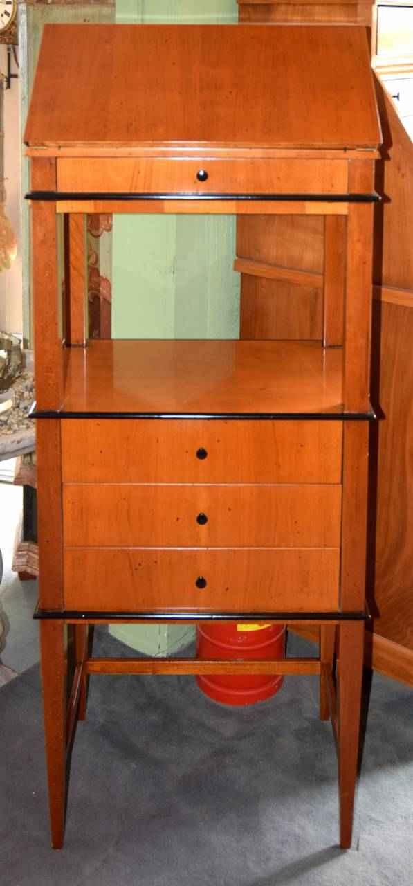 stehpult kirschbaumholz antiquit ten bro hauser m hle solingen. Black Bedroom Furniture Sets. Home Design Ideas